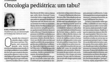 Oncologia Pediátrica: um tabu?