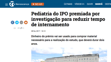 RR – Pediatria do IPO premiada