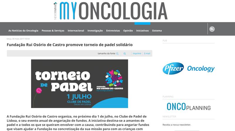 My Oncologia – Torneio de Padel Solidário