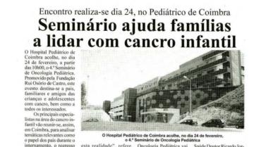 Seminário ajuda famílias a lidar com cancro infantil
