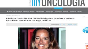 My Oncologia – Prémio Rui Osório de Castro / Millennium bcp